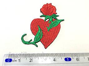 Нашивка Татуировка Сердце с розой