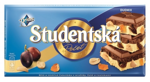 Шоколад Studentska бело-черный с изюмом, 180