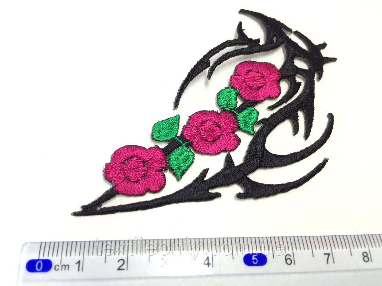 Нашивка Татуировка орнамент с цветами