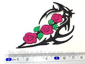 Нашивка Татуювання орнамент з квітами