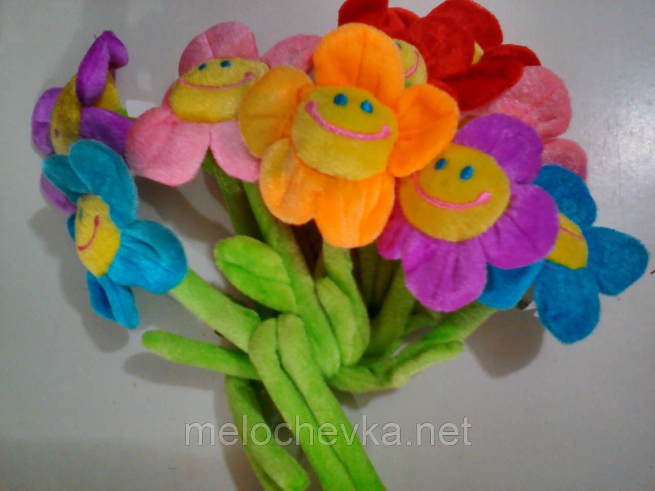 Цветки ромашки маленькие из ткани