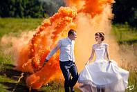 Оранжевый дым для фотосессии, Цветной дым, дымовые шашки