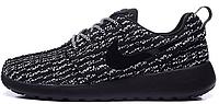 Женские кроссовки Nike Roshe Run Flyknit, найк роше ран черные