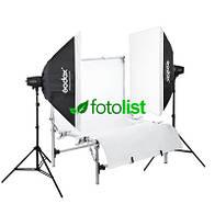 Набор для предметной съемки Godox MiniMaster 150 KIT-50х70-2, 2х150 Дж, предметный стол 60x90см