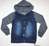 Джинсовая куртка с трикотажными рукавами  3-4,4-5,5-6 лет