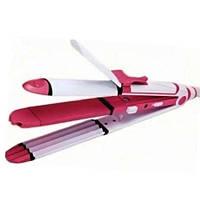 Прибор для укладки волос 3в1 Kemei КМ-1291 плойка гофре утюжок, фото 1
