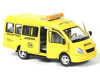 Игрушка Такси Joy Toy Газель 9098 E: инерционная, звук, свет, масштаб 1:27, коробка 20,5х12х12 см