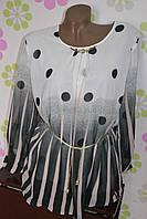 Блуза белая с цветочным принтом