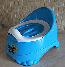"""Детский горшок """"Бейби-Комфорт""""  Dunya Plastik, Турция, синий"""