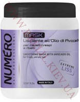 Маска для разглаживания волос с маслом авокадо, 1000мл, Brelil Numero