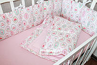 """Комлект постельного белья в детскую кроватку """"Мороженое """""""