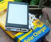 Внешний аккумулятор  с солнечной зарядкой Power Bank Solar Charger UKC 15000mAh 2USB + LED