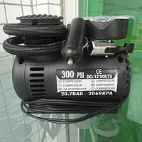 Автомобильный воздушный мини компрессор (DC 12V, 300 PSI) предназначен для подкачки давления в шинах.