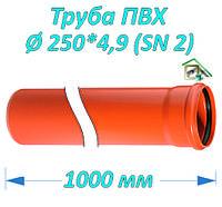 Труба ПВХ 250*4,9*1000 мм
