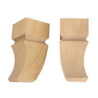 Деревянная ножка резная AF-032-120 буковая h=120 мм