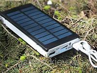 Внешний аккумулятор  с солнечной зарядкой Power Bank Solar Charger UKC 25000mAh 2USB + LED