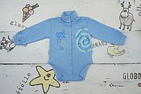 Боди детский теплый для мальчиков р.62, 68