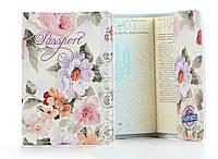 """Кожаная обложка на паспорт """"Цветы"""""""