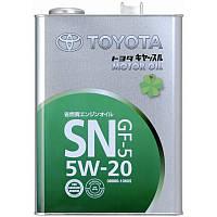 TOYOTA Motor Oil 5W-20 Моторное масло для бензиновых двигателей 4л.
