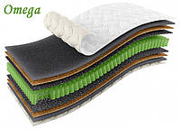 Матрас Omega / Омега 900х1900х210мм ЕММ Sleep&Fly ORGANIC кокос независимые пружины 150кг