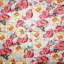 Рідкісна декупажна серветка Маки і метелики 1742