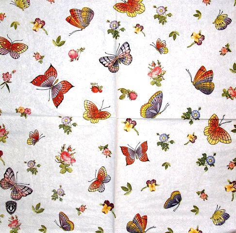 Декупажная салфетка Яркие бабочки 1744