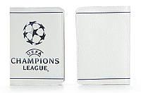 """Кожаная обложка на паспорт """"Лига Чемпионов"""""""