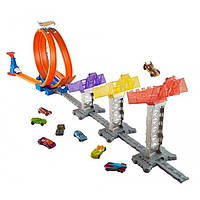 Hot Wheels Трек Суперскоростная трасса double loop attack track set minicar play kit