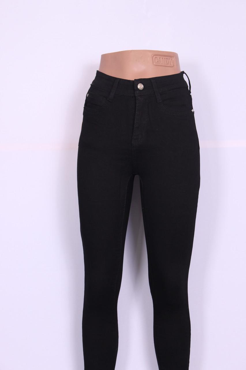 5e8500974fe Женские черные джинсы с высокой посадкой (талией) американка ( код 383) 25-