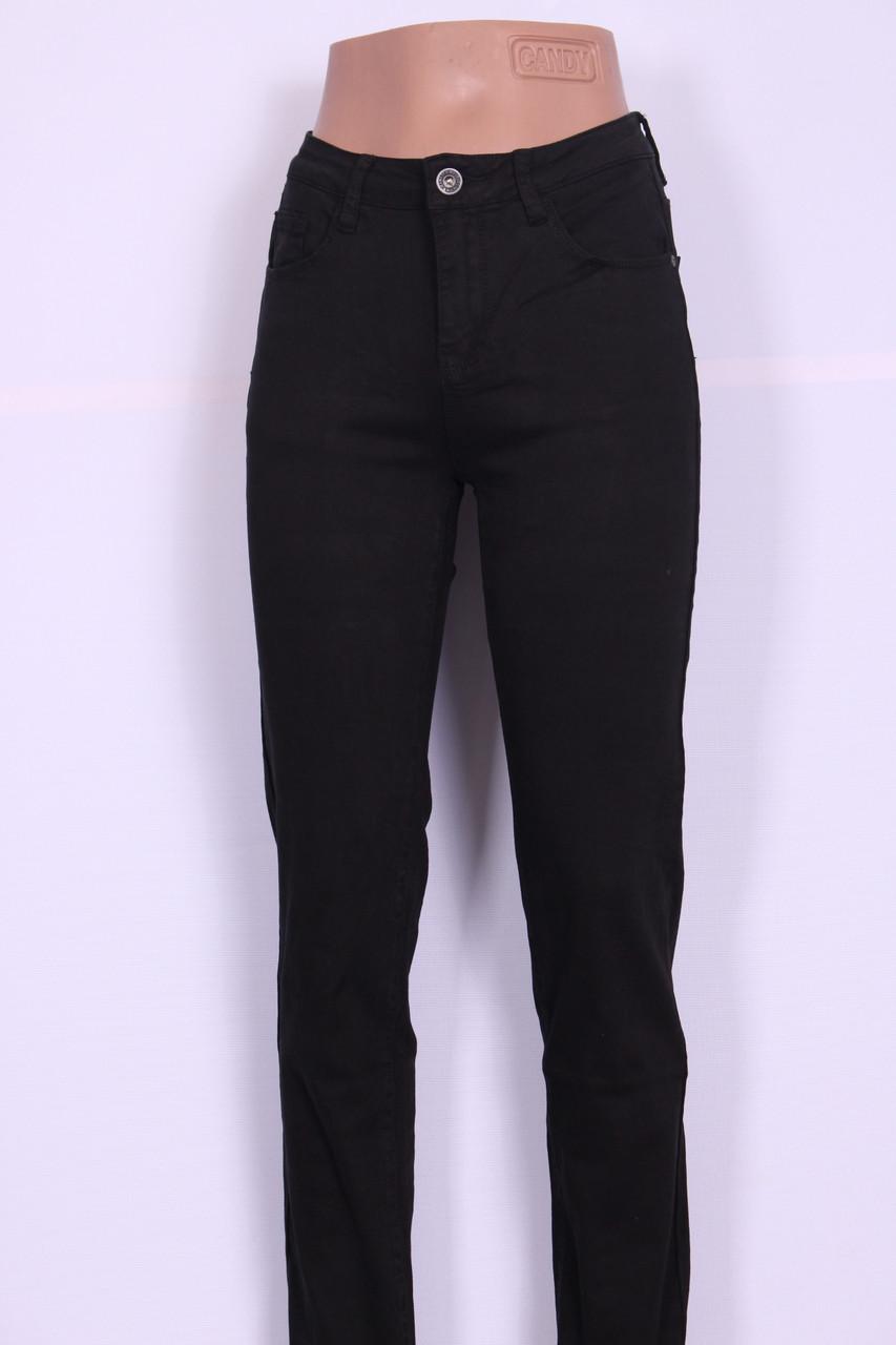 Женские черные  джинсы с высокой посадкой -американка ( код 9637) 28-33 размеры