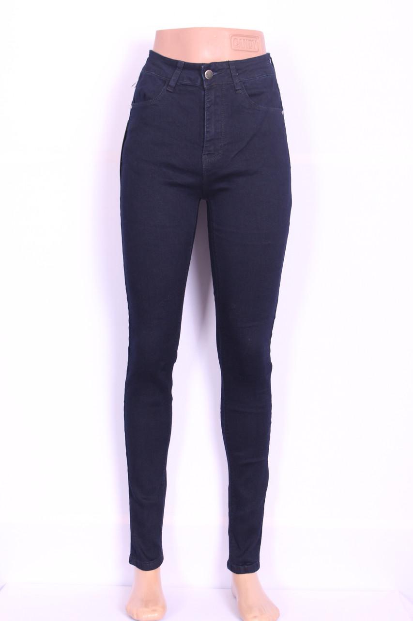 Женские чернильные джинсы с высокой посадкой (талией) американка ( код 9600) 25-30разм