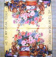 Редкая салфетка декупажная Тедди 1750