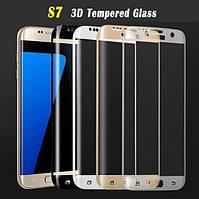 Защитное стекло 3D для Samsung Galaxy S7 G930 закругленные края, фото 1