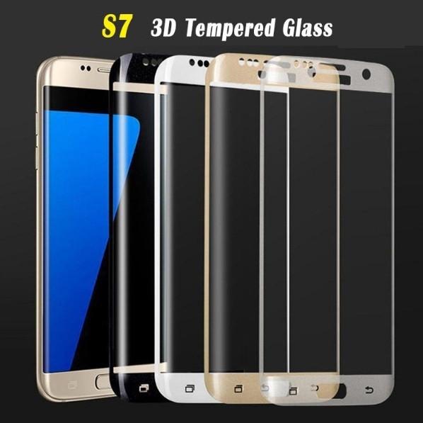 Защитное стекло 3D для Samsung Galaxy S7 G930 закругленные края