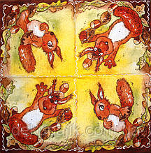 Декупажний серветка Весела білка 1769