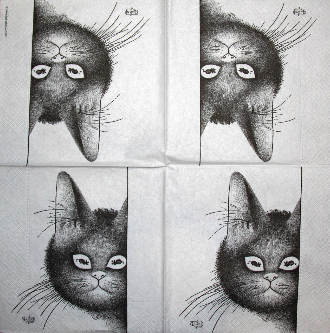 Декупажная салфетка Кошки мышки 1771