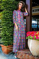 Длинное этно-платье