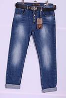 Женские джинсы бойфренды Red Blue 32-40 размер ( код 6000) больших размеров оптом