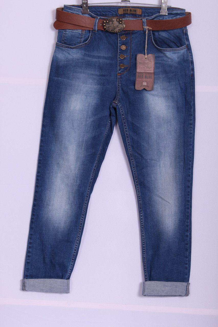 63eae4f9eed Женские джинсы бойфренды Red Blue 32-40 размер ( код 6000) больших размеров  оптом