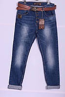 Женские джинсы бойфренды Red Blue 32-40 размер ( код 6001) больших размеров оптом
