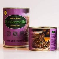 Консервы для котов Baskerville утка с индейкой,  200г