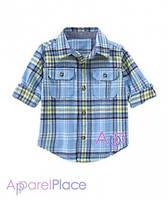 Gymboree Рубашка фланелевая голубая в клетку