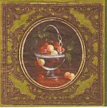 Редкая салфетка декупажная вазочки с фруктами 1798, фото 2