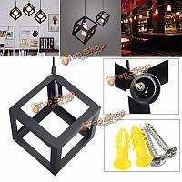 Подвесной светильник железный Куб E27