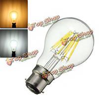 Затемняемый a60 b22 8w чистый белый теплый белый початка стекло AC220V лампа материал ретро свет лампы