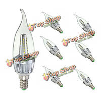 E14 4W 36 SMD 3014 LED Clear белый теплый белый пластик и алюминий тянуть задний фонарь лампа лампа AC220В