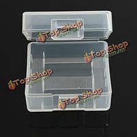 Soshine 2x покрытие кейс прозрачный жесткий пластик аккумуляторная батарея 18350