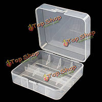 Soshine 2x батареи 26650 жесткий пластиковый кейс для хранения прозрачность держатель крышки