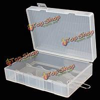 Жесткий портативный держатель пластиковой коробке корпус с крюком для батареи 4 х 26650