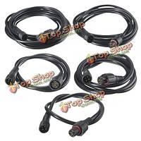 4-контактный водонепроницаемый мужской женский коннектор кабель-удлинитель для LED RGB полосы света